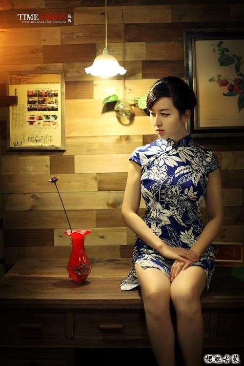 花�_半夏(xia),性感旗袍美女